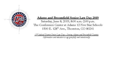 Attendee Registration-Adams and Broomfield Counties Senior Law Day 2019