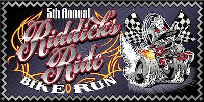 5th Annual Riddick's Ride Bike Run