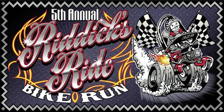 5th Annual Riddick's Ride Bike Run tickets