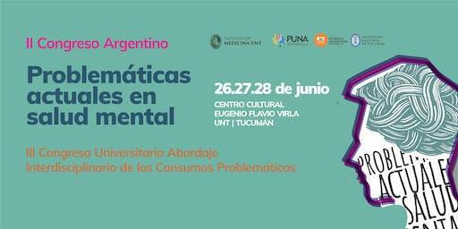 """II Congreso Argentino """"Problemáticas Actuales en Salud Mental"""""""