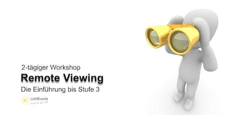 Workshop Remote Viewing – Die Einführung bis Stufe 3 - Mit Manfred Jelinski Tickets