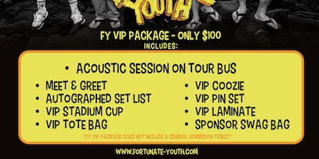 FY VIP PACKAGE 2019 - BOSTON, MA tickets