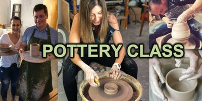 POTTERY CLASS -Pottery wheel  for beginners ( 2 hour)
