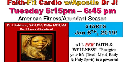 Blessed, Faith & Fit Cardio Every Tues Night 6:15pm