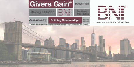 BNI Confidence - Visitors Welcome to Brooklyn Heights Networking Group tickets