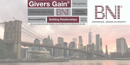 BNI Confidence - Visitors Welcome to Brooklyn Heights Networking Group