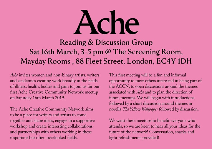 Ache: Reading + Discussion Group image
