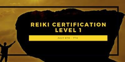 Reiki Certification - Level 1 - Sliding Scale