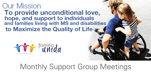 June Monthly Support Group Meeting - Living with A Disability