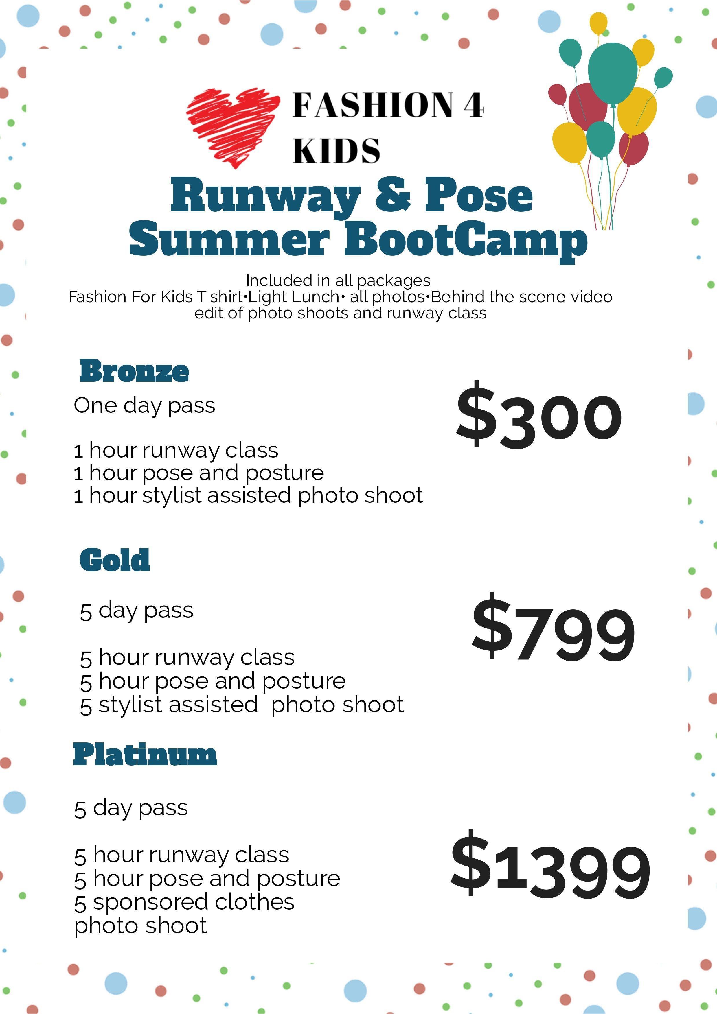 La Fashion For Kids Summer Academy 8 Jul 2019