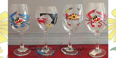 Maryland Wine Glass Paint Night