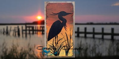 Blue Heron Slate Paint Night