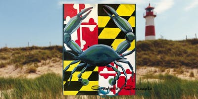 Maryland Crab Canvas Board Paint Night