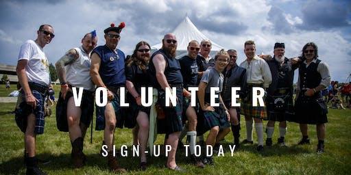 2019 Volunteer Sign Up -  Scottish Festival & Highland Games