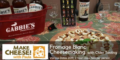 Cheesemaking at Ravenskill Orchard with Gabbies Cider tasting: Fromage Blanc