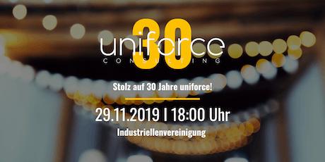 30 Jahre uniforce - Jubiläumsfeier Tickets