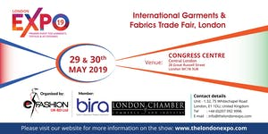 The London Expo 2019, International Garments & Fabrics...