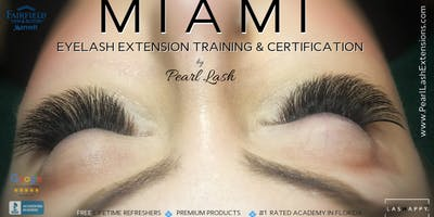 Volume Eyelash Extension Training Hosted by Pearl Lash Miami June 16th, 2019