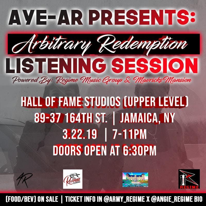 AYE-AR Presents: Arbitrary Redemption Listening Session