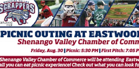 Mahoning Valley Scrappers Picnic & Fireworks Aug. 30 at Eastwood Field! tickets