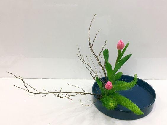 Spring Ikebana Floral Arrangement at Jabberwo