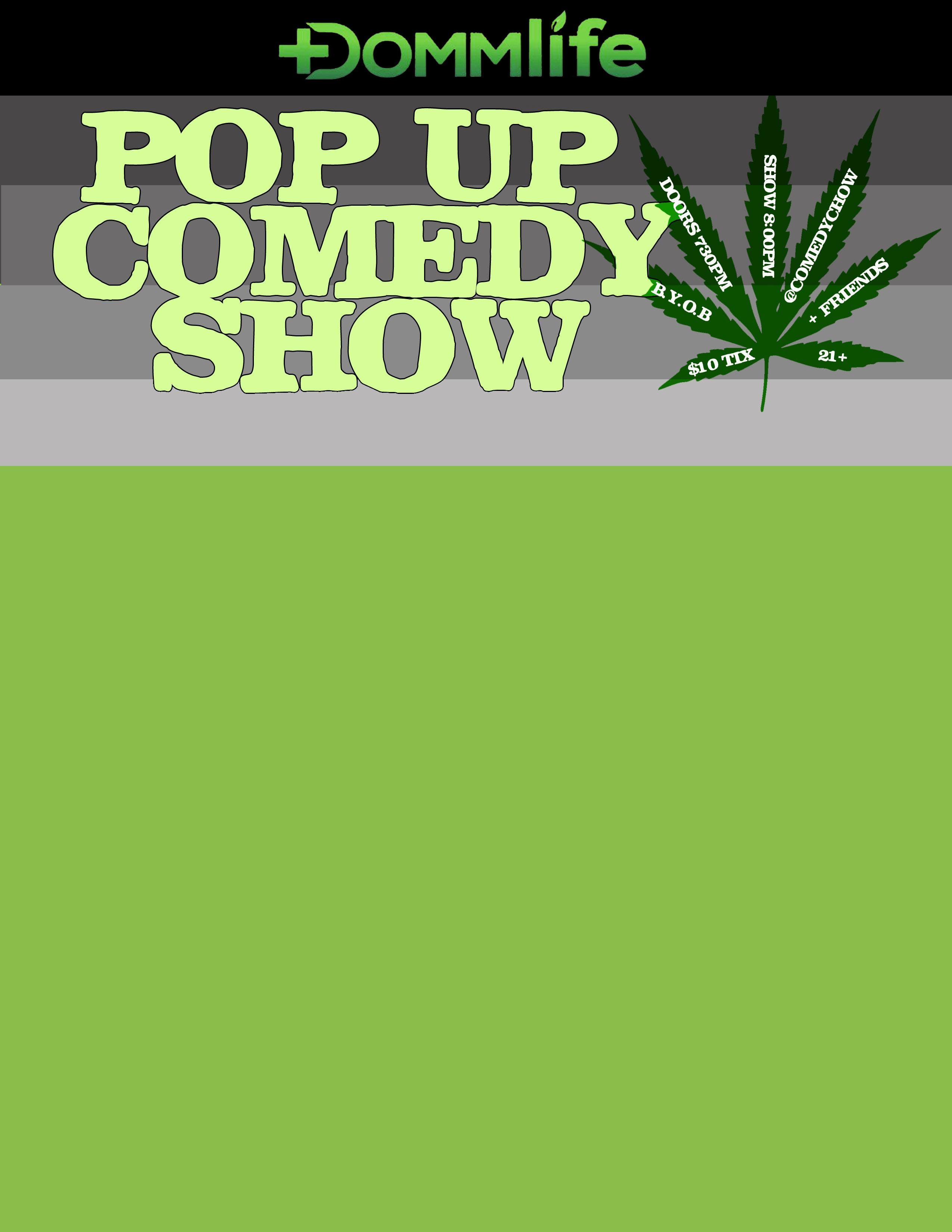 Comedy Chow presents : DOMMlife Sponsored Comedy Show 1 NIGHT ONLY