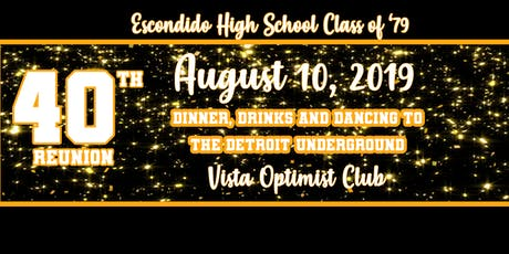 Escondido High Class of 1979-40th Reunion tickets