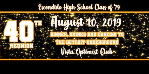 Escondido High Class of 1979-40th Reunion