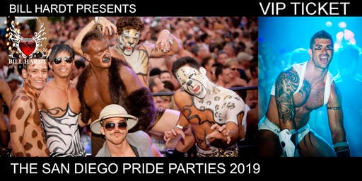 VIP TICKET 2019, Bill Hardt Presents San Diego Pride Parties