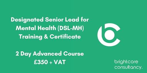 Designated Senior Lead for Mental Health (DSL-MH) Training & Certificate 2 Day Advanced Course: Bristol
