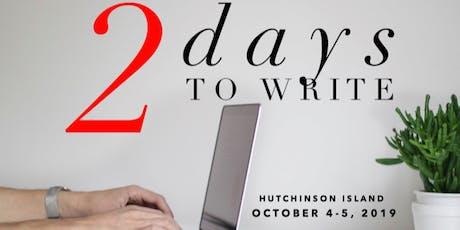 2 Days To Write Retreat | Poets & Writers Getaway To Write | Hutchinson Island, FL tickets