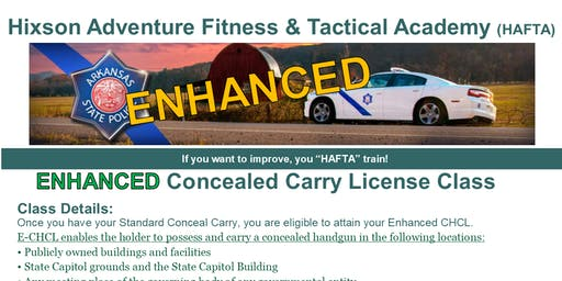 Enhanced Arkansas Concealed Carry Handgun License Class - July 28th 2019