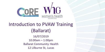 Introduction to PVAW Training (Ballarat)