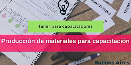Taller de Producción de Materiales de Capacitación entradas