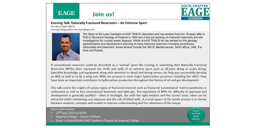 EAGE London Evening Talk: Naturally Fractured Reservoirs – An Extreme Sport