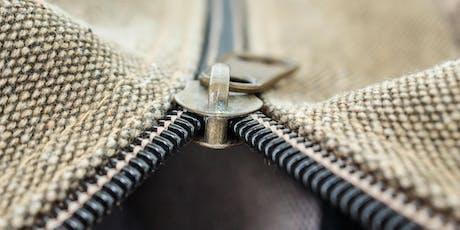 Zipper Master Class - The Zippered Pouch and Dopp Bag tickets