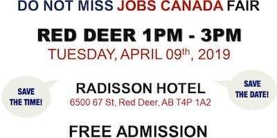 FREE: Red Deer Job Fair – April 09, 2019