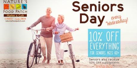 Seniors Sale Day tickets
