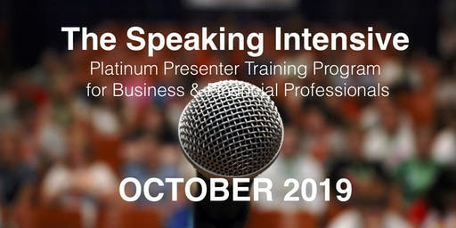 The Speaking Intensive October 2019