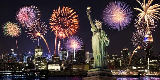 FIRE WORKS EAST RIVER YACHT CRUISE PARTY AROUND NEW YORK CITY