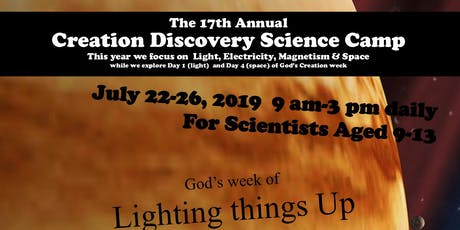 Creation Discovery Science Camp tickets