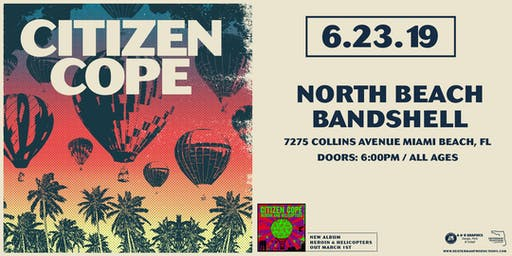 Citizen Cope at North Beach Bandshell (June 23, 2019)