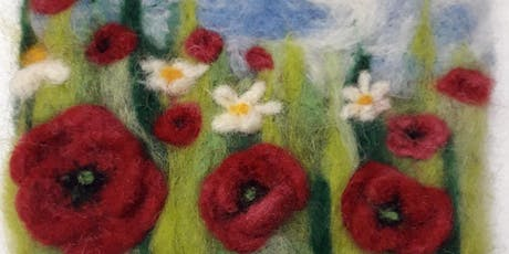 Cerne Giant Festival - Needle-felt a Poppy-field