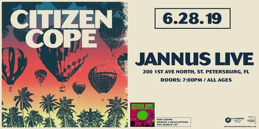 Citizen Cope at Jannus Live (June 28, 2019)