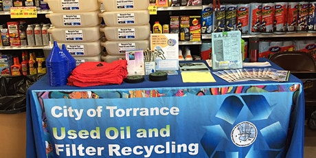 FREE City of Torrance Used Motor Oil Filter Exchange @ Pep Boys tickets