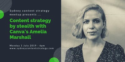 Sydney content strategy meet up - July 2019