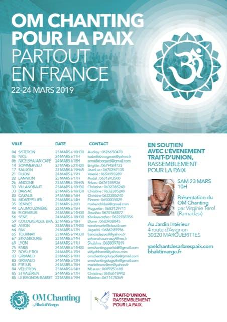 OM Chanting Pour la Paix à Lyon (69) - Gratui