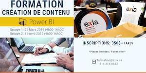 Formation Power BI : Créateur de contenu