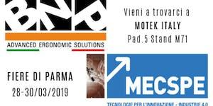 Vieni come ospite BNP a MECSPE 2019
