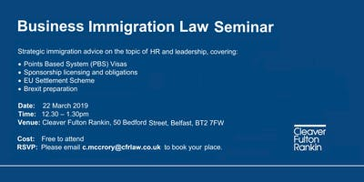Business Immigration Law: Strategic Immigration Advice for HR & Leadership